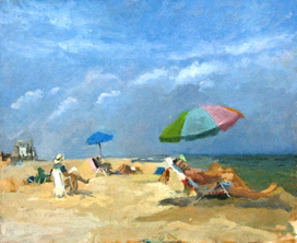 Multicolored Ocean City Umbrella_barbaragruber
