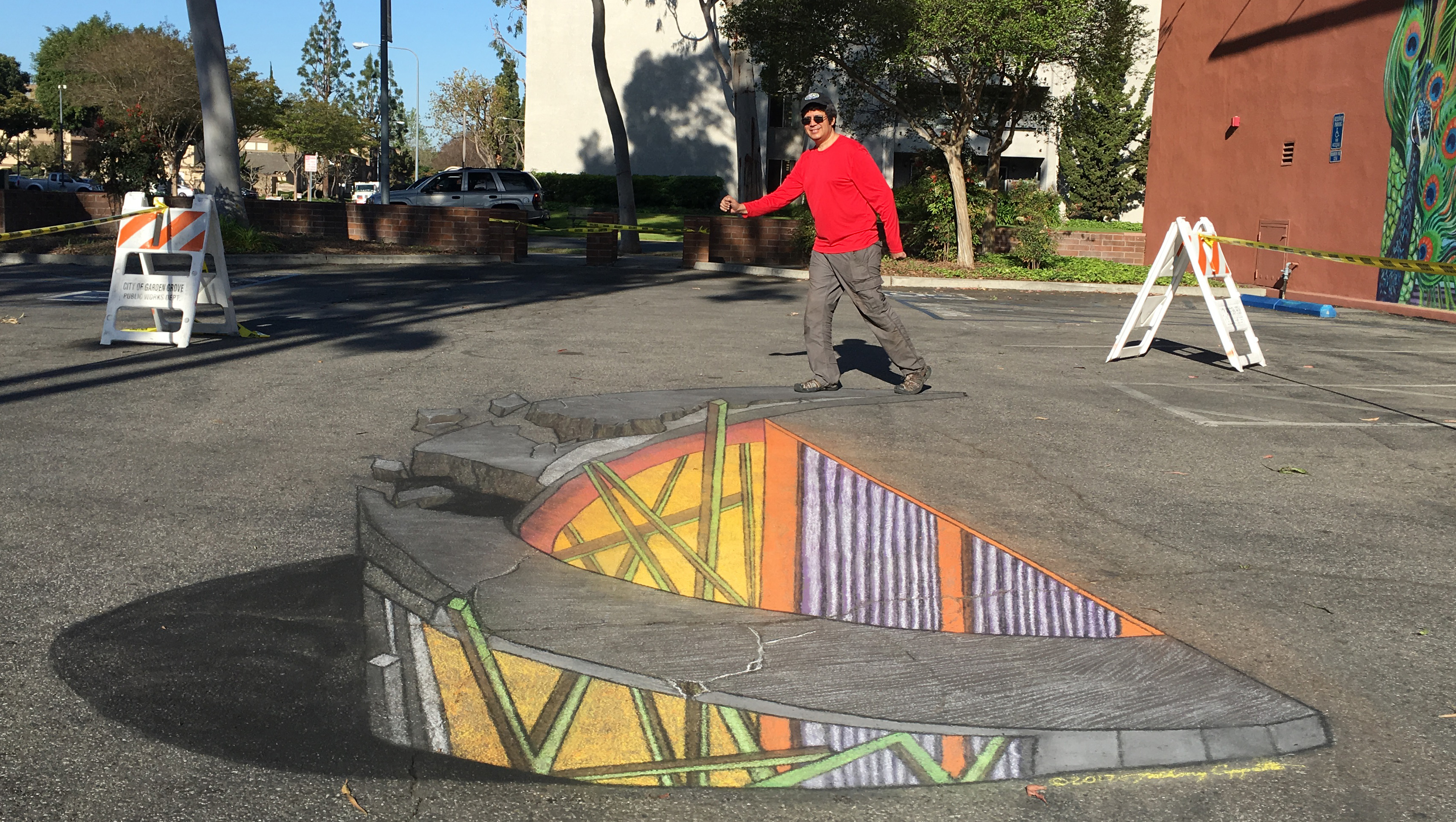 ACappetto 3D chalk portion of 4D AR project Garden Grove_8484