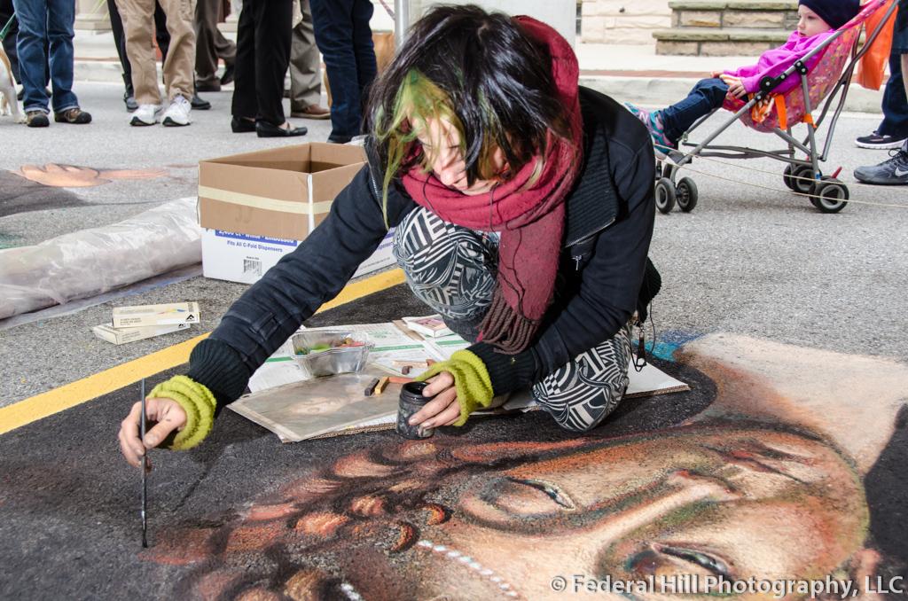 Image Keywords= art, artist, chalk, favorite, festival, madonarri, people, urban, Baltimore, Little Italy, Maryland, United States